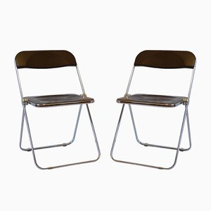 Plia Chairs by G. Piretti for Castelli, 1970s, Set of 2