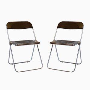 Plia Stühle von G. Piretti für Castelli, 1970er, 2er Set