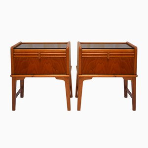 Danish Bedside Cabinets, 1960s, Set of 2