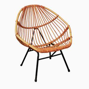 Mid-Century Bamboo Armchair, 1950s