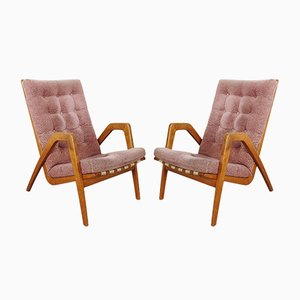 Vintage Armchairs by Jan Vaněk, Set of 2