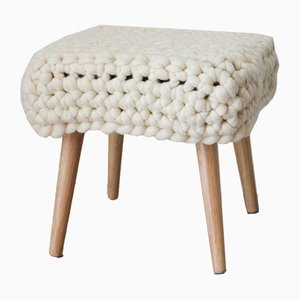 Natural Chunky Sheep Stool by Com Raiz, 2018