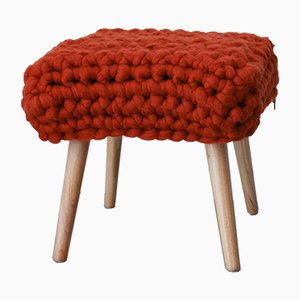Brick Orange Chunky Sheep Stool by Com Raiz, 2018