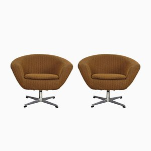 Swivel Armchairs from UP Závody, 1960s, Set of 2