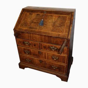 Antique Burr Walnut Secretaire, 1880s