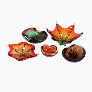 Vintage Muranoglasschalen, 5er Set
