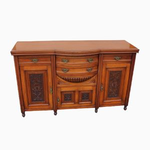 Antique Satin Walnut Sideboard, 1910s