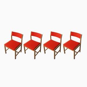 Dänische Mid-Century Esszimmerstühle von Borge Mogensen, 1970er, 4er Set