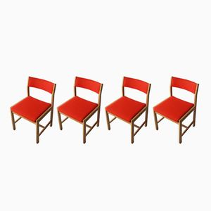 Mid-Century Danish Dining Chairs by Borge Mogensen, 1970s, Set of 4