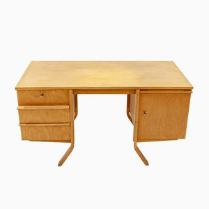 EB04 Birch Series Writing Desk by Cees Braakman for Pastoe, 1950s