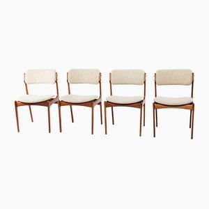 Esszimmerstühle von Erik Buch für O.D. Møbler, 1970er, 4er Set