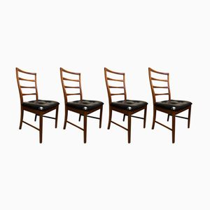 Vintage Teak Dining Chairs, 1970s, Set of 4