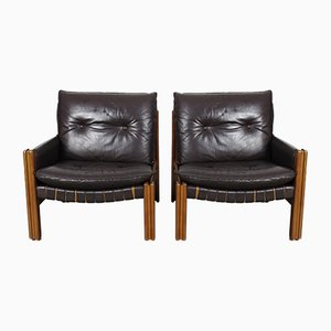 Vintage Modular Leather 2-Seater Sofa from TON