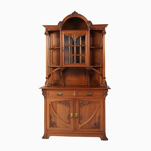 Art Nouveau French Oak Buffet, 1900s