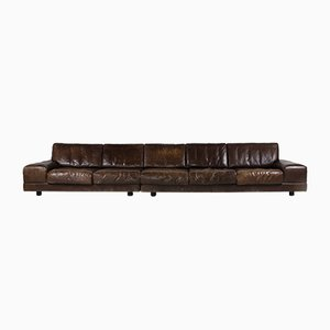 Large Vintage German Modular Leather Sofa from Dreipunkt, 1970s