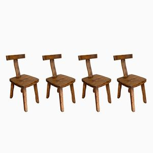 Vintage T Chairs by Olavi Hanninen for Mikko Nupponen, Set of 4