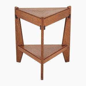 Tavolino da caffè Art Deco traingolare in quercia di Anton Lucas, anni '20