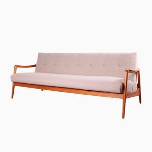 Vintage Sofa aus Kirschholz, 1950er