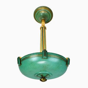 Art Deco Ceiling Lamp from Genet et Michon, 1920s