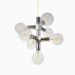 Mid-Century 6-Leuchten Deckenlampe von Trix & Robert Haussmann für Schweizer Lampen International