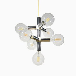 Mid-Century 6-Pendant Ceiling Lamp by Trix & Robert Haussmann for Swiss Lamps International