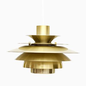 Danish Gold Verona Lamp from Jeka, 1970s