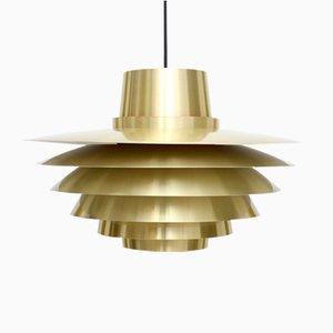 Lampada Verona vintage in ottone di Svend Middelboe per Nordisk Solar