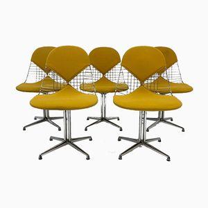 Sedie DKR2 vintage in cavo metallico di Charles & Ray Eames per Herman Miller, set di 5