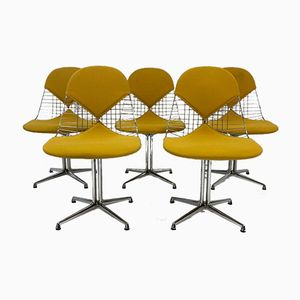 Vintage DKR-2 Wire Chairs by Charles & Ray Eames for Herman Miller, Set of 5