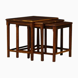 Vintage Danish Rosewood Nesting Tables, Set of 3