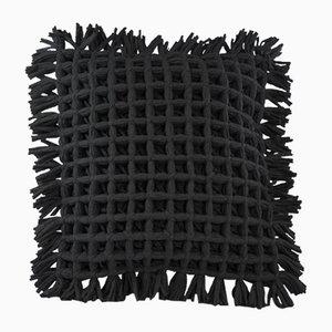 Coussin Honeycomb Noir par Nieta Atelier