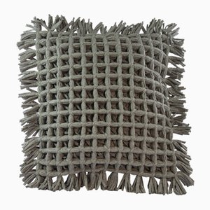 Grey Honeycomb Pillow by R & U Atelier