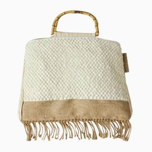 White Mushroom Bag by Nieta Atelier