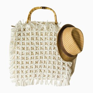 White Honeycomb Bag by R & U Atelier