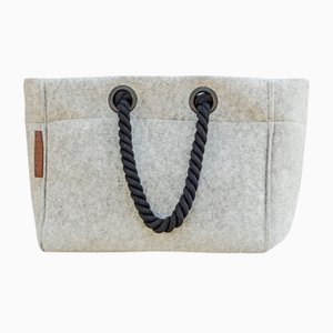 Sandy Bag with Black Rope by Nieta Atelier