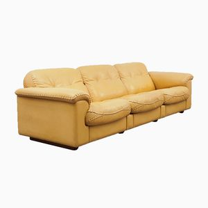 3-Seater Light Brown Model DS 101 Sofa from de Sede, 1960s