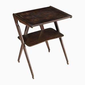 Mueble de TV de madera de ébano teñida, años 50