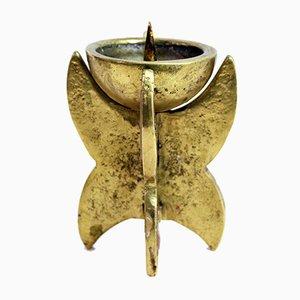 Candelero brutalista vintage de bronce