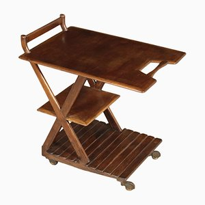 Italian Stained Beech Service Cart, 1940s