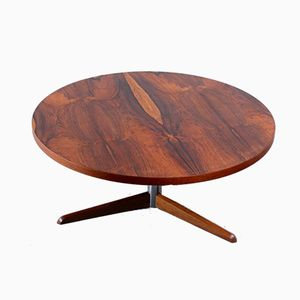 Vintage Round Rosewood Tripod Coffee Table, 1960s