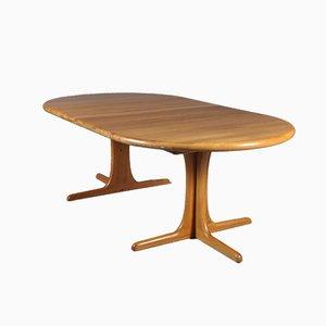Mesa extensible escandinava de teca maciza, años 60