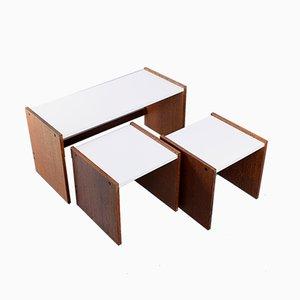 Tavoli ad incastro in wengé e formica di Cees Braakman per Pastoe, anni '70