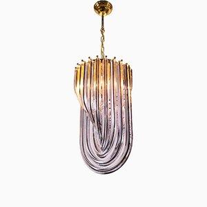 Lámpara de techo vintage de cristal de Murano de Carlo Nason para Venini