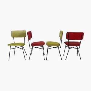 Vintage Elettra Chairs by Studio BBPR for Arflex, 1950s, Set of 4