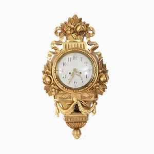Reloj de pared sueco antiguo, década de 1900