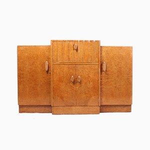 Art Deco Sideboard aus Ahorn-Wurzelholz