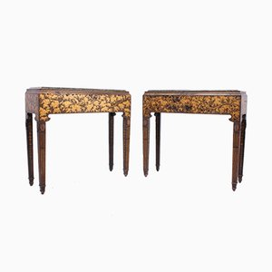 Regency Chinoiserie Side Tables, 1820s, Set of 2