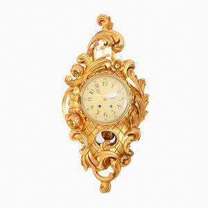 Orologio a muro Rococò antico, inizio XX secolo