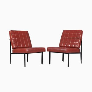 Mid Century Modern Austrian Low Lounge Chairs from Wiesner-Hager, 1960s, Set of 2