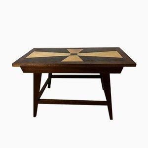 Mesa de centro con marquetería, años 60